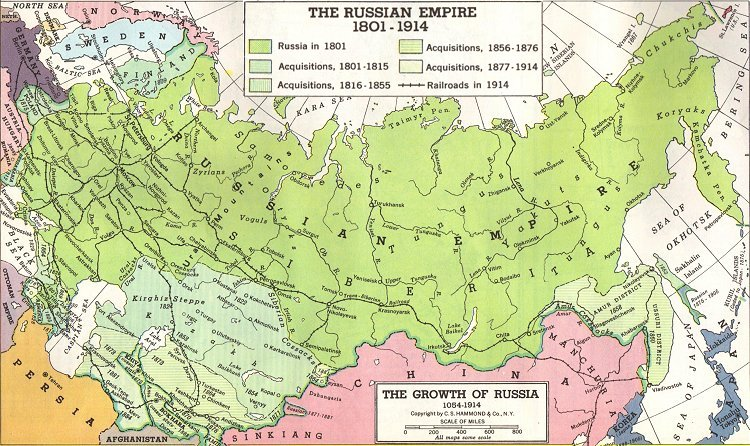 HUNMAGYARORG Russian Territorial Expansion The Conquest Of - Us land acquisitions map